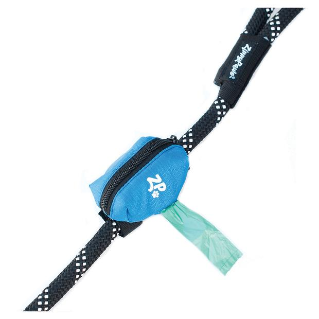 Zippypaws Adventure Leash Bag Waste Bag Dispenser Glacier Blue Each Pet: Dog Category: Dog Supplies ...