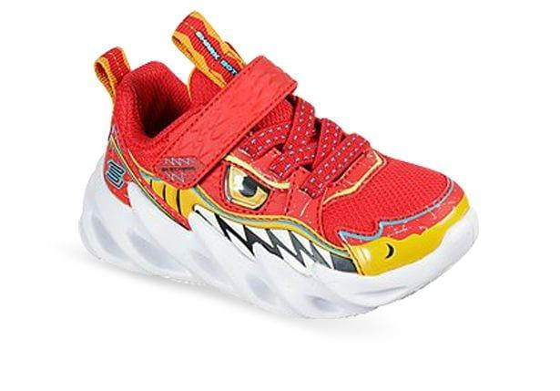Channel your inner shark with the Skechers Shark-Bots Surf Patrol. This lightweight slip-on sneaker...
