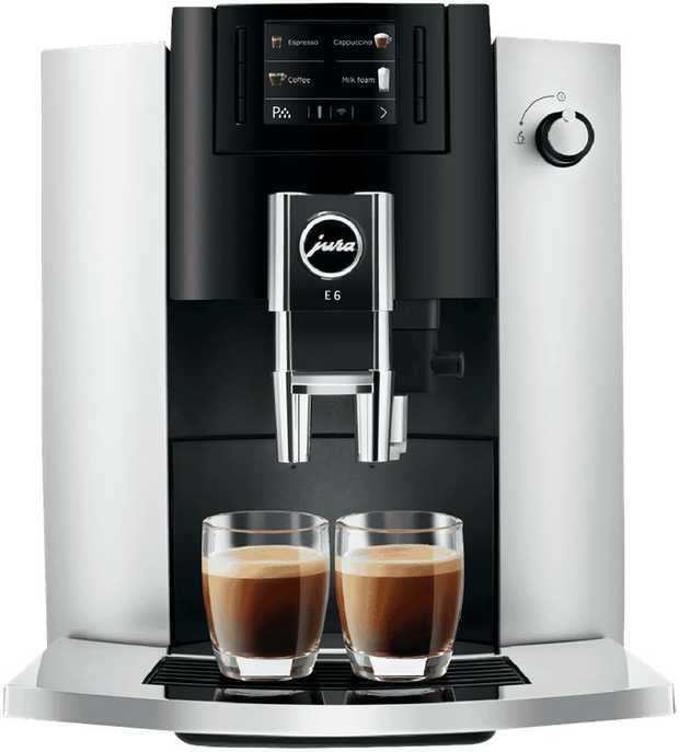 This JURA coffee machine features a stainless steel finish, a grinder, and a frother. Conveniently...