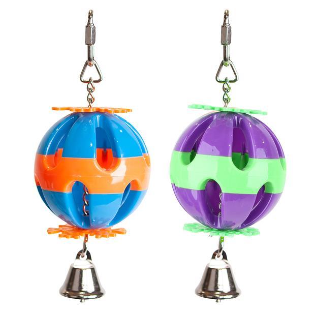 Kazoo BIrd Toy Plastic Ball With Bell Small Pet: Bird Category: Bird Supplies  Size: 0.1kg  Rich...