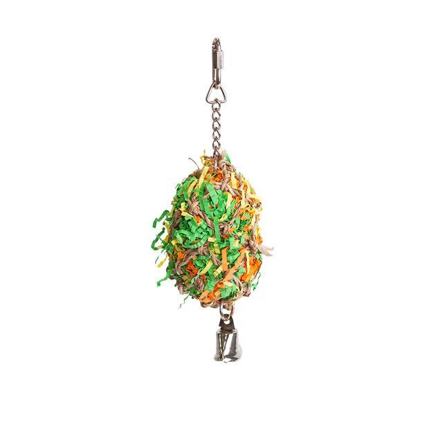 Kazoo Bird Toy Crinkle Ball With Bell Small Pet: Bird Category: Bird Supplies  Size: 0.1kg  Rich...