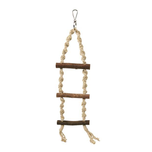 Trixie Natwood Rope Ladder 3 Rungs 40cm Pet: Bird Category: Bird Supplies  Size: 0.1kg  Rich...