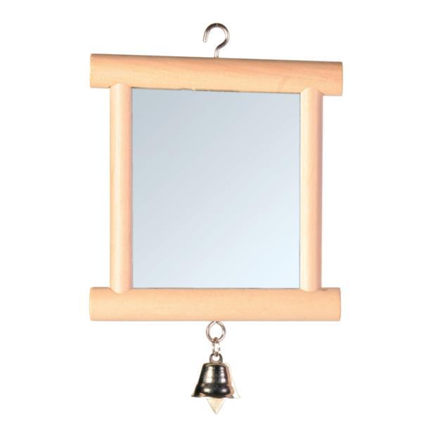 Trixie Mirror With Wooden Frame Bell Each Pet: Bird Category: Bird Supplies  Size: 0.1kg  Rich...