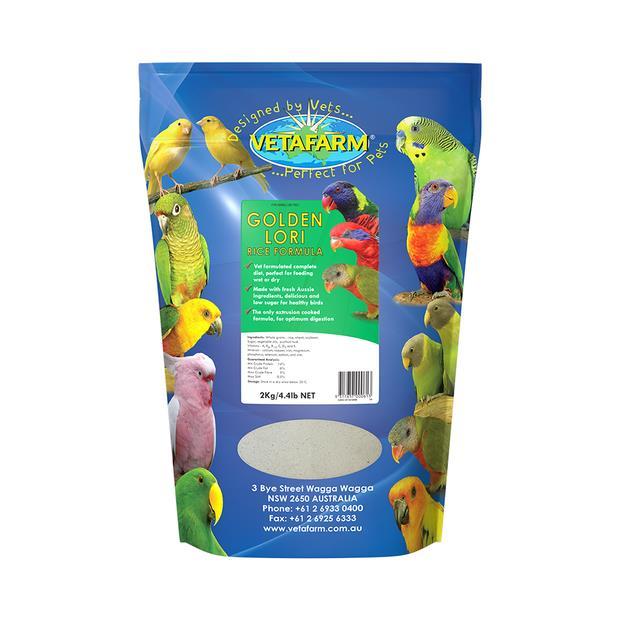 Vetafarm Golden Lori Rice Formula 450g Pet: Bird Category: Bird Supplies  Size: 0.5kg  Rich...