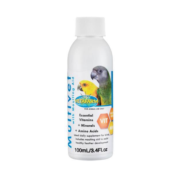 Vetafarm Bird Multivet With Moulting Aid 100ml Pet: Bird Category: Bird Supplies  Size: 0.1kg  Rich...