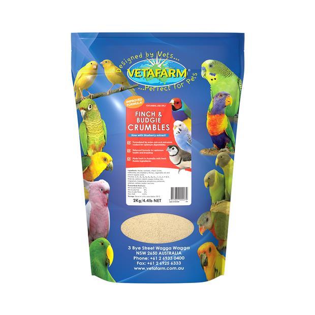 Vetafarm Finch Canary Budgie Crumbles 2kg Pet: Bird Category: Bird Supplies  Size: 2kg  Rich...
