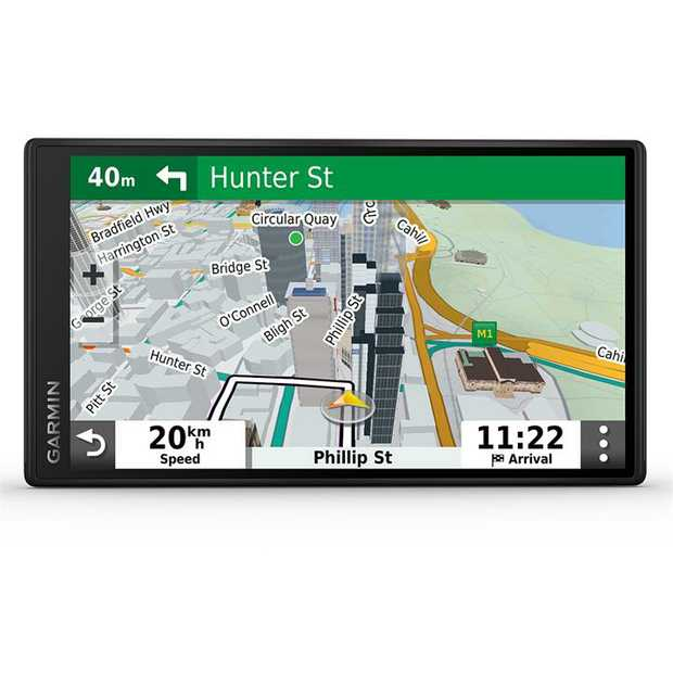 "Easy-to-use 5.5"" GPS navigator Simple menus and bright, easy-to-see maps Garmin Traffic suggests..."