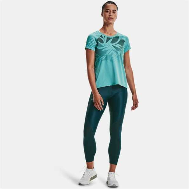 Iso-Chill fabric helps disperse body heat, making it feel cool to the touch Strategic mesh panels for...