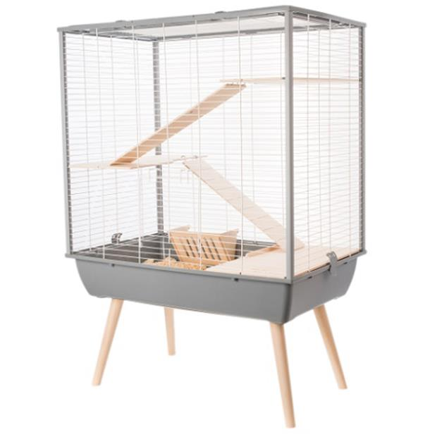 Zolux Neo Cosy Small Animal Cage Grey Each Pet: Small Pet Category: Small Animal Supplies  Size: 9kg...
