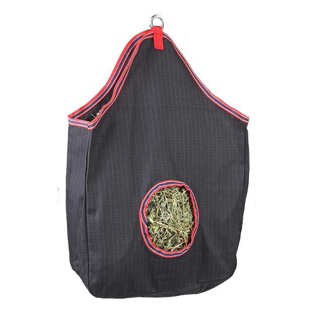 Zilco Canvas Two Tone Hay Bag Each Pet: Horse Size: 0.4kg Colour: Black  Rich Description: Originating...