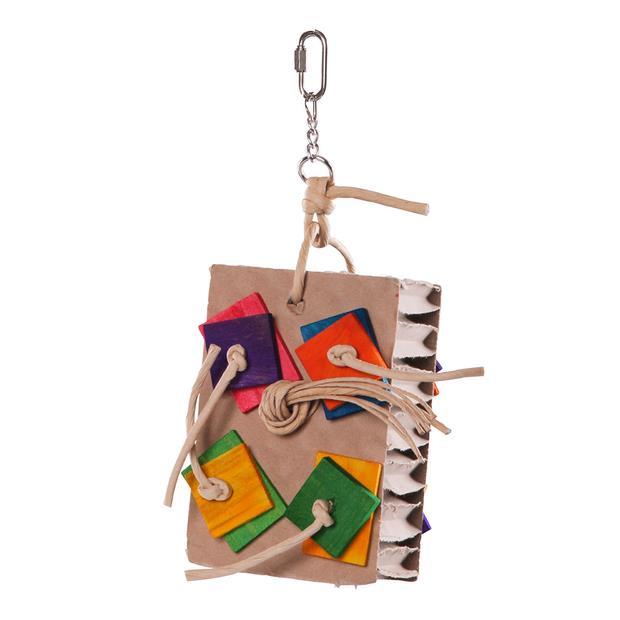 Kazoo Bird Toy Cardboard Activity Board Medium Pet: Bird Category: Bird Supplies  Size: 0.1kg  Rich...
