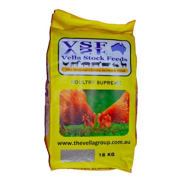 Vella Poultry Supreme Macro Pellet 18kg Pet: Bird Category: Bird Supplies  Size: 18kg  Rich...