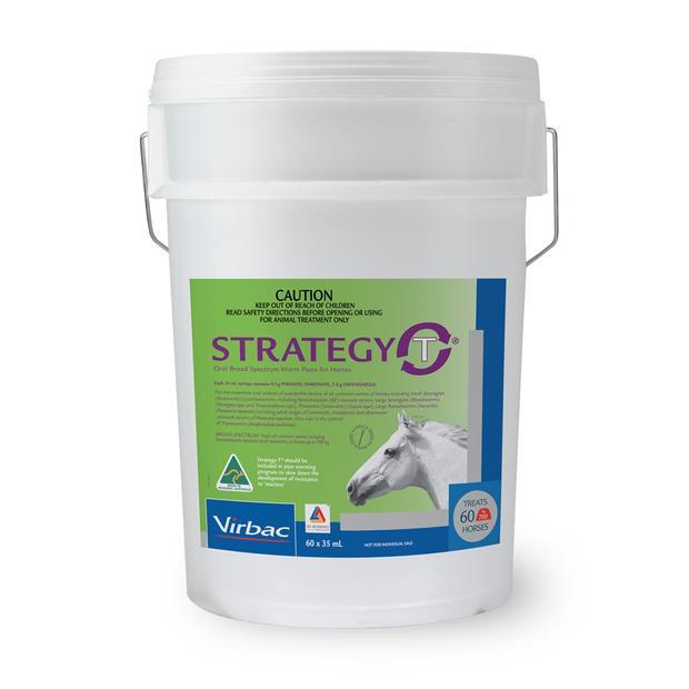 Strategy T Horse Wormer Stable Pail 60 X 35ml Pet: Horse Size: 5.1kg  Rich Description: Suitable...