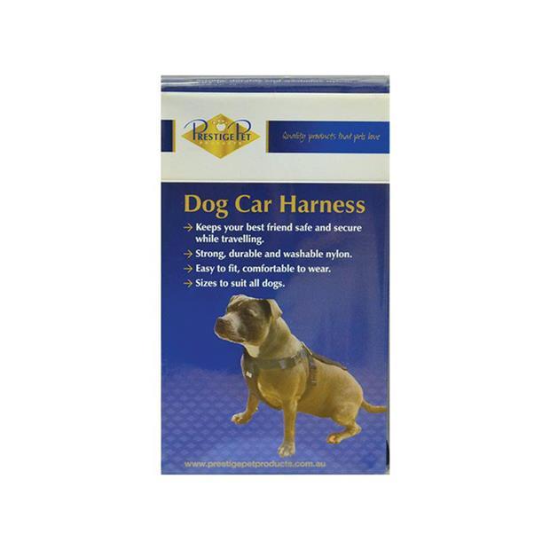 Prestige Car Harness Medium Pet: Dog Category: Dog Supplies  Size: 0.1kg Colour: Black Material: Nylon...
