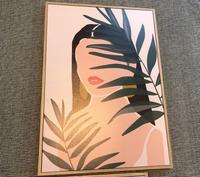 La Femme Framed CanvasProduct DetailsDimensions/Size: 70cm (H) x 50cm (W)Material: Medium density...