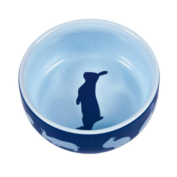 Trixie Ceramic Bowl With Motif Rabbit 250ml Pet: Small Pet Category: Small Animal Supplies  Size: 0.3kg...