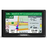 """Easy-to-use 5"""" GPS navigator Simple on-screen menus Bright, easy-to-see maps Garmin Traffic suggests..."""