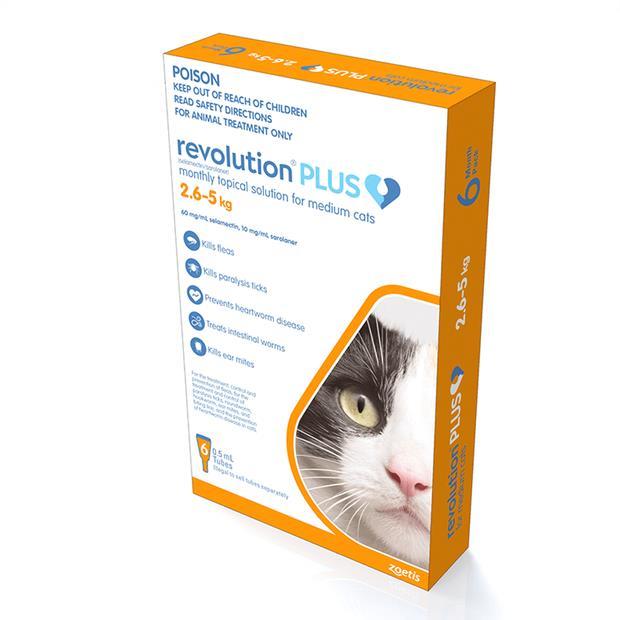Revolution Cat Plus Orange 2 X3 Pack Pet: Cat Category: Cat Supplies  Size: 0.1kg  Rich Description:...