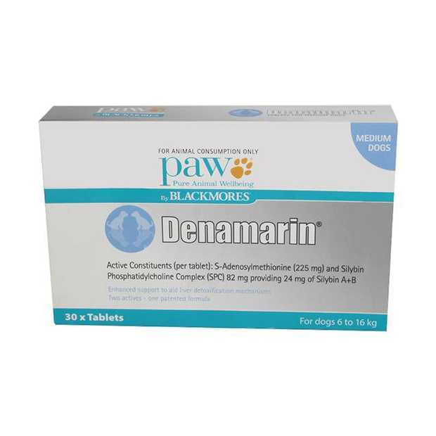 Paw Blackmores Denamarin Medium Dog 30 Pack Pet: Dog Category: Dog Supplies  Size: 0.5kg  Rich...