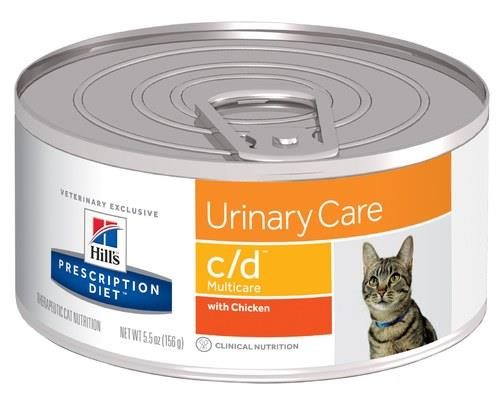 Hill's Prescription Diet Cat Food, C/D Multicare Urinary Tract Health with Chicken, 156gHill's have...