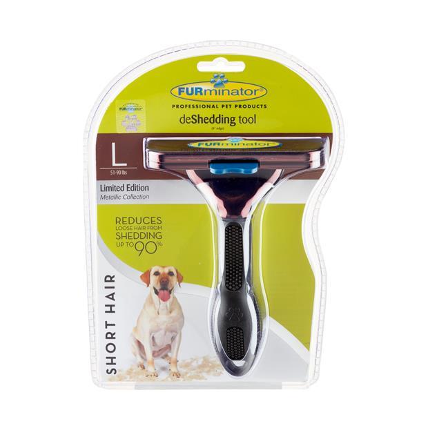 Furminator Short Hair Large Dog Metallic Bronze Large Pet: Dog Category: Dog Supplies  Size: 0.2kg...