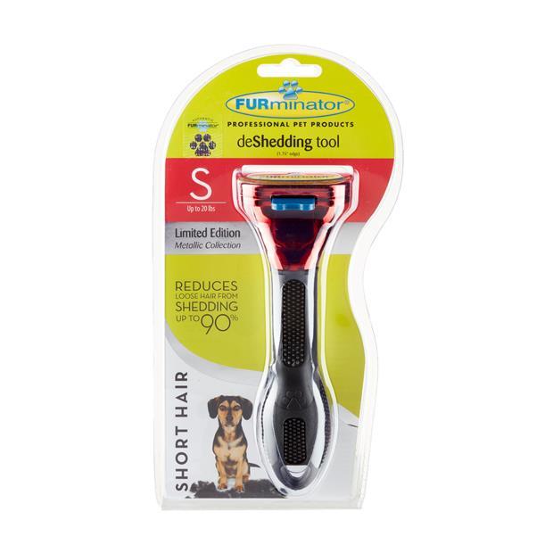 Furminator Short Hair Small Dog Metallic Red Small Pet: Dog Category: Dog Supplies  Size: 0.2kg  Rich...