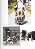 Motorized Wheel chair, folder able , arms lift up , horn, great wheels, anti tippers, small basket...