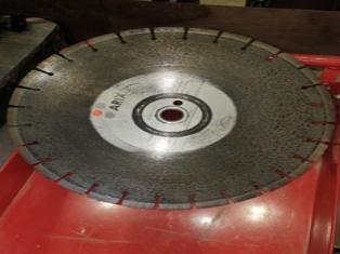 Diamond saw blade for demolition/concrete saw. 416mm diameter. Has had little use.  $125