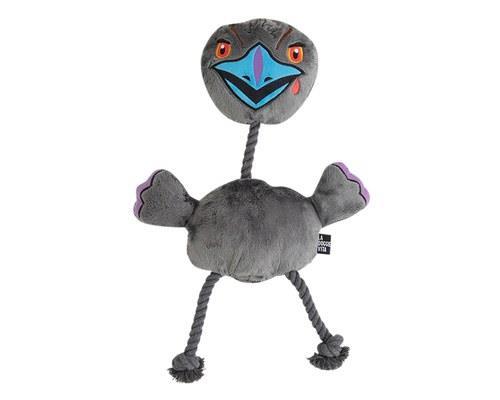 LA DOGGIE VITA EVIL EMU ROPE TOY LARGEBigger than a chicken. Badder than a cassowary. But secretly soft...
