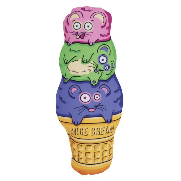 Fat Cat Kitty Kickz Mice Cream Cone Cat Toy Each Pet: Cat Category: Cat Supplies  Size: 0.3kg  Rich...