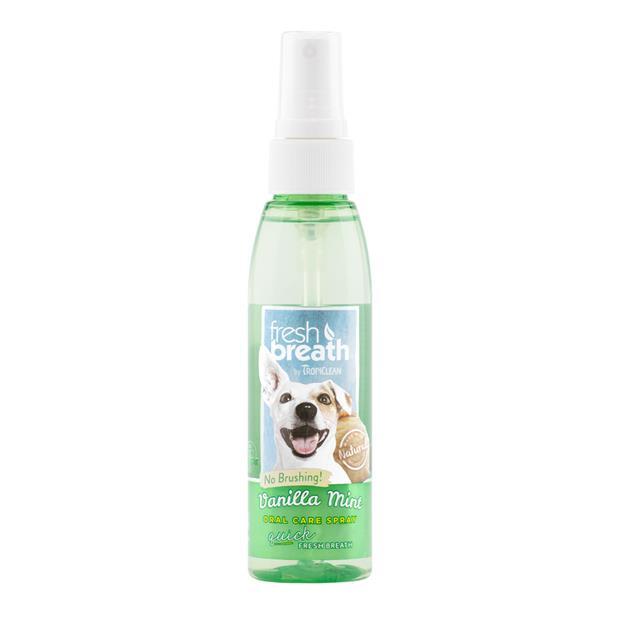 Tropiclean Fresh Breath Vanilla Mint Oral Spray 118ml Pet: Dog Category: Dog Supplies  Size: 0.2kg...