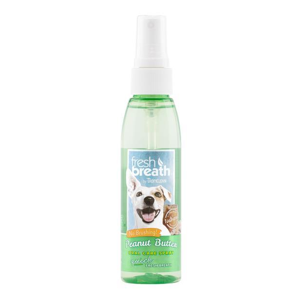 Tropiclean Fresh Breath Peanut Butter Oral Spray 118ml Pet: Dog Category: Dog Supplies  Size: 0.2kg...