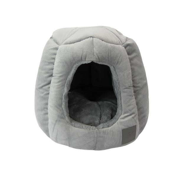 Ts Bed Portsea Igloo Plush Grey Each Pet: Dog Category: Dog Supplies  Size: 1.5kg Colour: Grey...