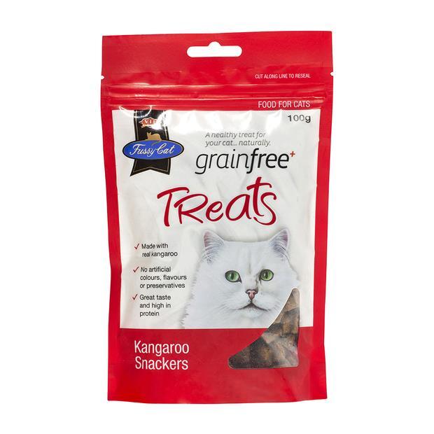 Fussy Cat Grain Free Cat Treats Kangaroo Snackers 100g Pet: Cat Category: Cat Supplies  Size: 0.1kg...