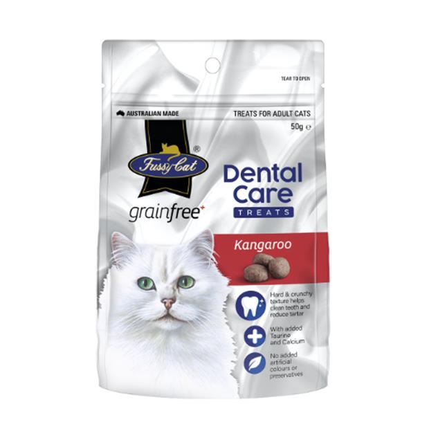 Fussy Cat Dental Cat Treats Kangaroo 50g Pet: Cat Category: Cat Supplies  Size: 0.1kg  Rich...