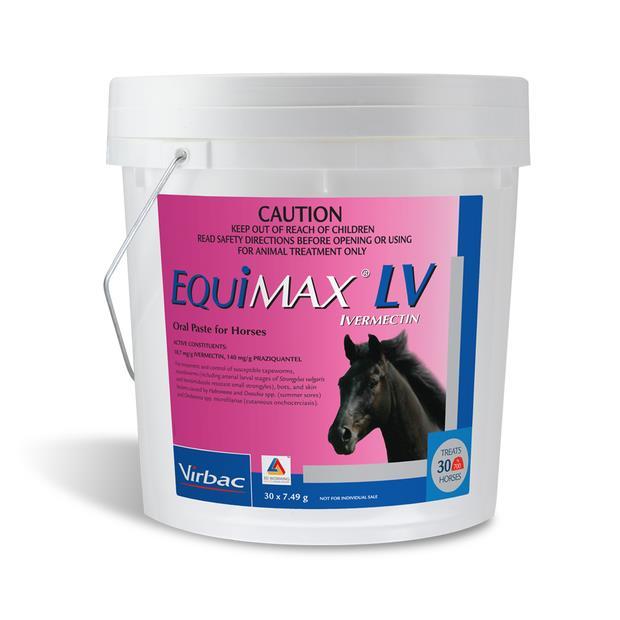 Equimax Lv Horse Wormer Stable Pail 30 X 7.49g Pet: Horse Size: 2kg  Rich Description: Suitable...