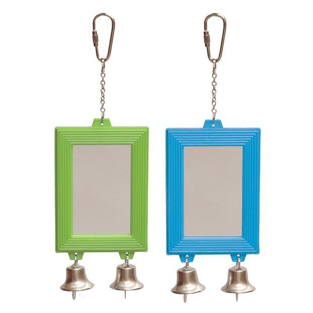 Kazoo Bird Toy Rectangular Mirror With Bell Each Pet: Bird Category: Bird Supplies  Size: 0.1kg  Rich...