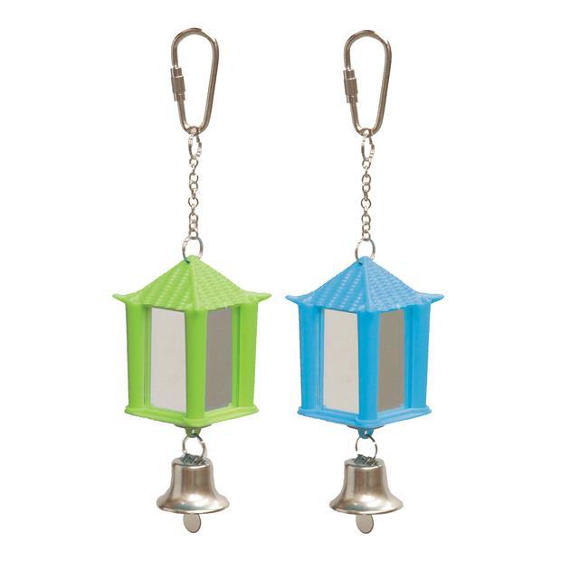 Kazoo Bird Toy Lantern Mirror With Bell Each Pet: Bird Category: Bird Supplies  Size: 0kg  Rich...