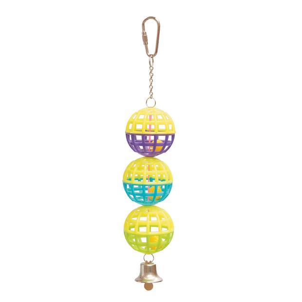 Kazoo Bird Toy Triple Cage Ball With Bell Each Pet: Bird Category: Bird Supplies  Size: 0kg  Rich...
