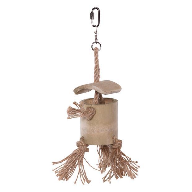 Kazoo Bird Toy Natural Wooden Well With Rope Medium Pet: Bird Category: Bird Supplies  Size: 0.1kg...