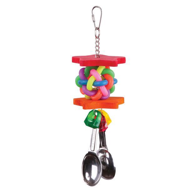 Kazoo Bird Toy Star Chips And Spoons Medium Pet: Bird Category: Bird Supplies  Size: 0.2kg  Rich...