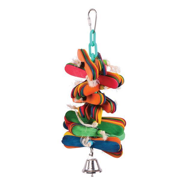 Kazoo Bird Toy Pop Sticks And Bell Medium Pet: Bird Category: Bird Supplies  Size: 0.2kg  Rich...