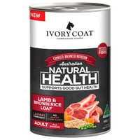 Ivory Coat Wholegrain Wet Dog Food Adult Lamb And Brown Rice Loaf 12 X 400g Pet: Dog Category: Dog...