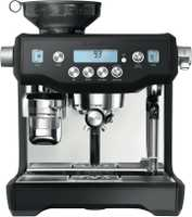 This Breville coffee machine has a black finish, a grinder, and a frother. Make cups and cups of...