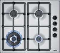 4 burner cooktop Wok burner Electronic ignition Enamelled cast-iron trivets Elegant stainless-steel...