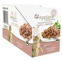 Applaws Tuna With Salmon Adult Wet Cat Food 16 X 70g Pet: Cat Category: Cat Supplies  Size: 1.3kg  Rich...