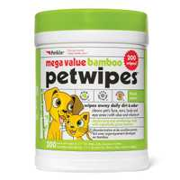 Petkin Mega Value Bamboo Eco Pet Wipes 200 Pack Pet: Dog Category: Dog Supplies  Size: 0.9kg  Rich...