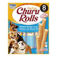 Inaba Churu Roll Chicken Wraps With Cheese Recipe 8 X 12g Pet: Dog Category: Dog Supplies  Size: 0.9kg...