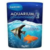 Aquamate Aquarium Conditioning Salt 2kg Pet: Fish Category: Fish Supplies  Size: 2.1kg  Rich...