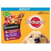 Pedigree Adult Wet Dog Food Casserole Favourites 12 X 85g Pet: Dog Category: Dog Supplies  Size: 1kg...